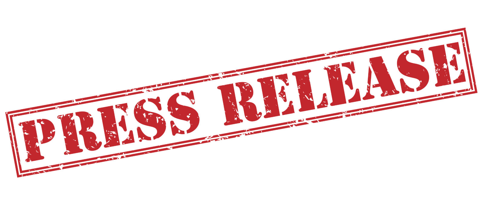 press release red stamp on white background